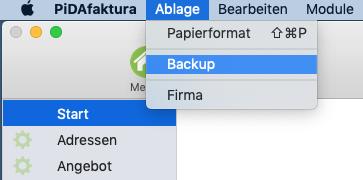PiDA faktura Backup